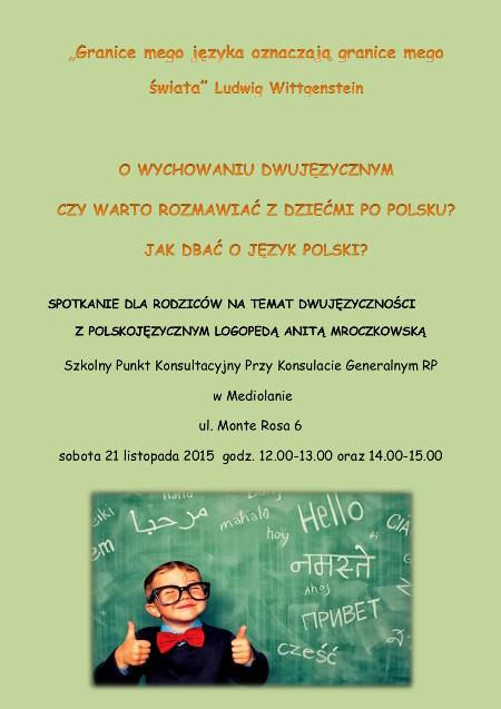 PLAKAT_spotkanie _o _dwujezycznosci_polacy_we_wloszech (1)