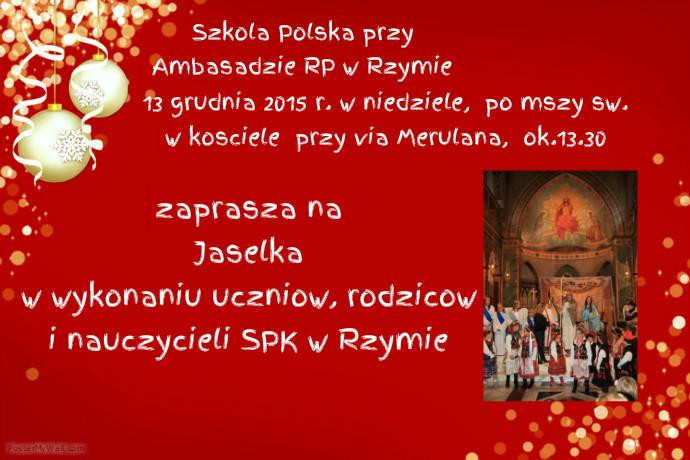 Jaselka_szkolapolska_rzym_polacywewloszech