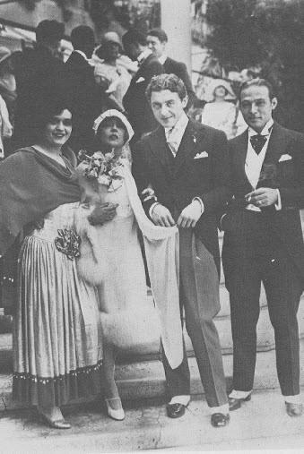 Pola Negri Rudolf Valentino, Mary i David Mdivani