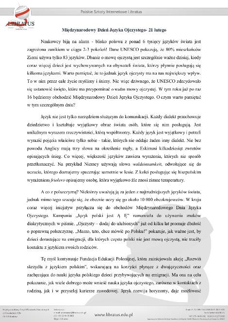 Międzynarodowy Dzień Języka Ojczystego_polacy_we_wloszech