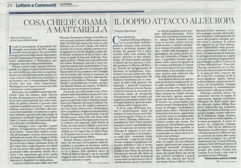 artykul ambasadora w La  Stampa