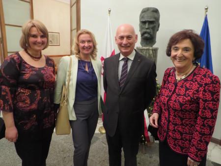 Od prawej: Prezes Zwiazku Polakow we Wloszech, Ambasador RP oraz Redakacja portalu Polacy we Wloszech