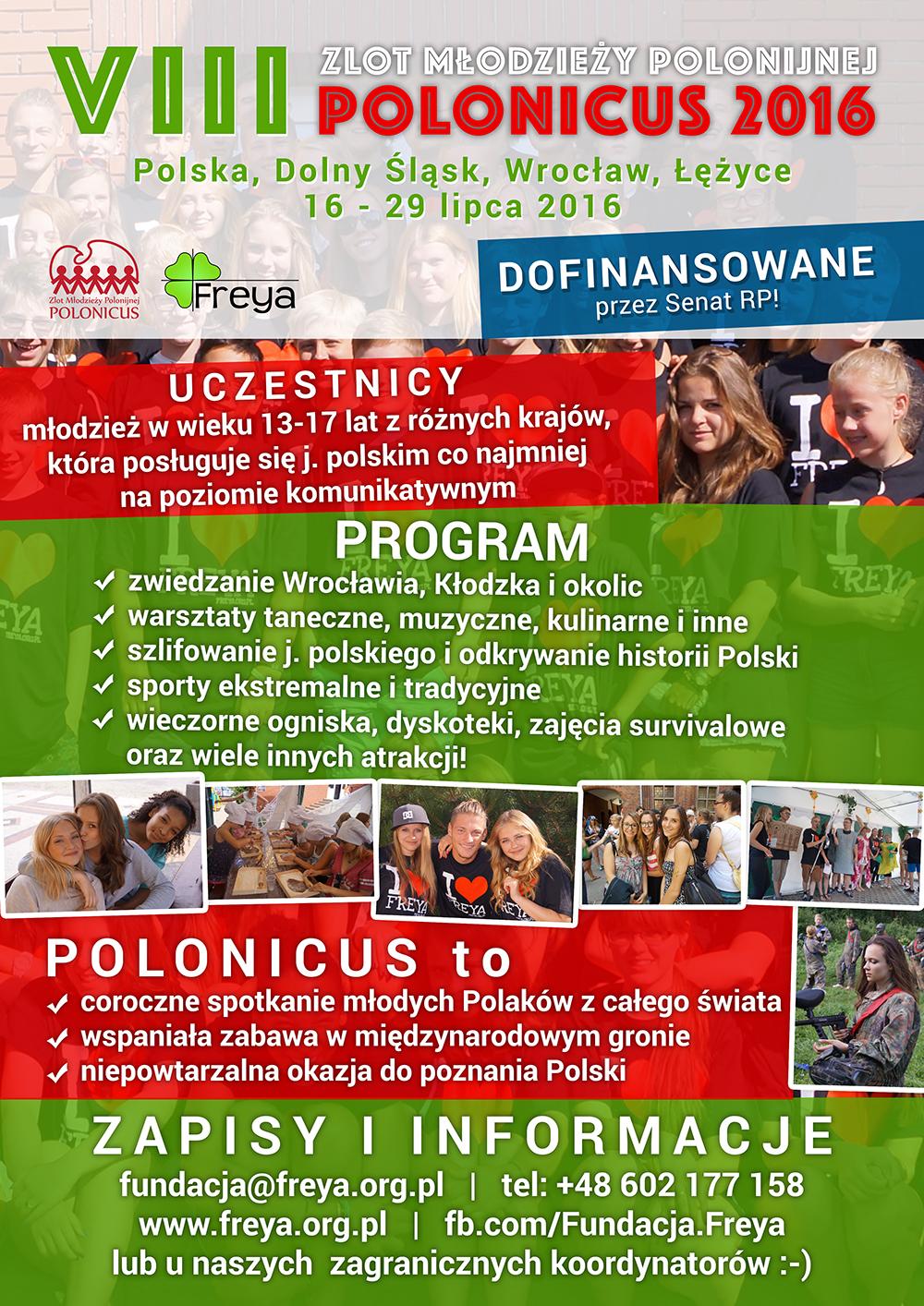2016 Polonicus Plakat bez ceny MAŁY