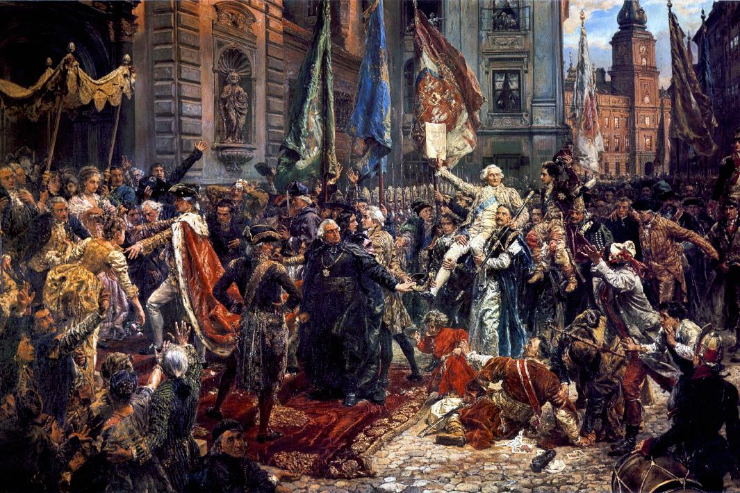 """Obraz Jana Matejki """"Konstytucja 3 maja"""", Archiwum Ambasady RP w Rzymie"""