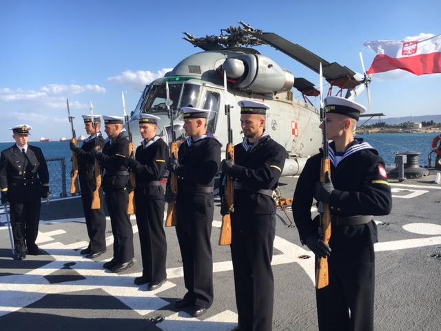 Na pokładzie fregaty rakietowej ORP Kościuszko. Fot. Anna Wawrzyniak/Ambasada RP w Rzymie