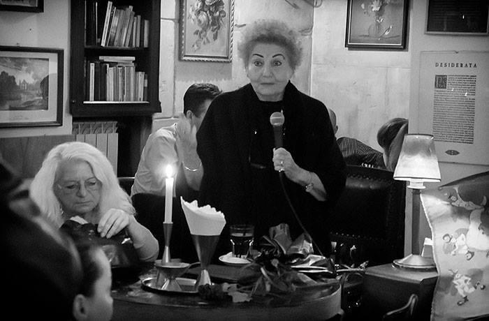 """2.prof.Barbara Wojciechowska Bianco (ilustratorka antologii) i Angela Giannelli poetka z grupy """"La Vallisa"""""""