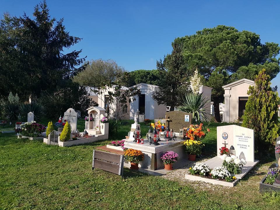 Polska część cmentarza w Rzymie