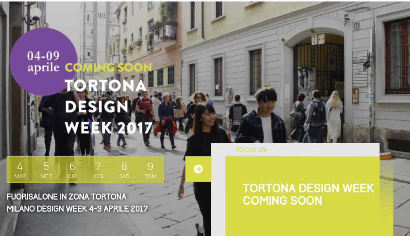 Milano tortona design week od 4 do 9 kwietnia 2017 for Design week milano 2017