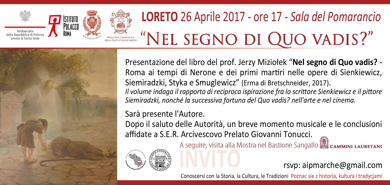 Zaproszenie Do Loreto Polacy Włochom Polacy We Włoszech