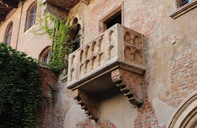 Werona, balkon Julii, Szekspir , Wlochy